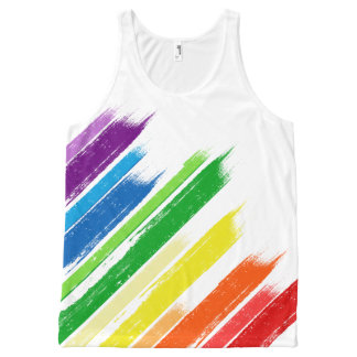 Gay Pride Stripes All-Over Print Tank Top