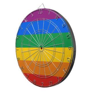 GAY PRIDE STRIPES DESIGN DARTBOARD WITH DARTS