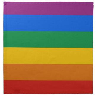GAY PRIDE STRIPES DESIGN PRINTED NAPKINS