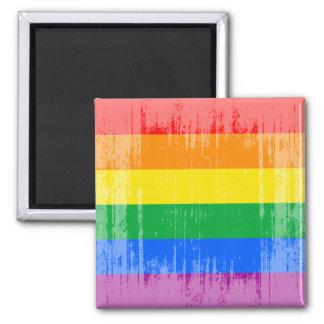GAY PRIDE STRIPES DISTRESSED DESIGN MAGNET