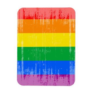 GAY PRIDE STRIPES DISTRESSED DESIGN VINYL MAGNETS
