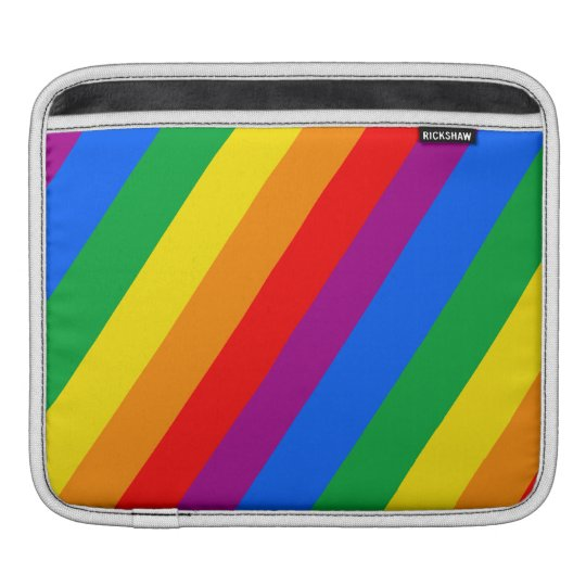Gay Pride Stripes Sleeve For iPads