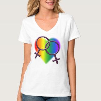 Gay Pride T-shirts Women's Lesbian Love Shirts