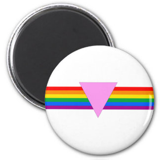 Gay Pride Triangle Design 6 Cm Round Magnet