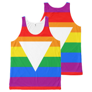 Gay Pride Triangle Design All-Over Print Tank Top