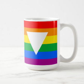 Gay Pride Triangle Design Basic White Mug