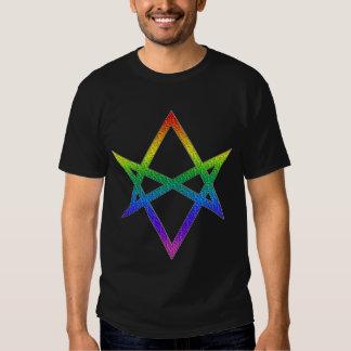 Gay Pride Unicursal Hexagram Shirt