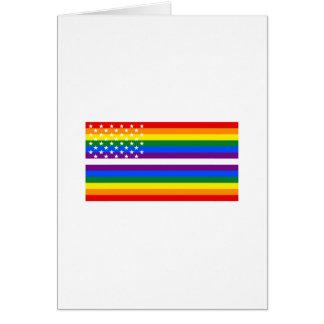 Gay Pride US Flag - 13 Colonies of Gay Pride Greeting Card