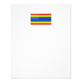 Gay Pride US Flag - Stars and Stripes 11.5 Cm X 14 Cm Flyer