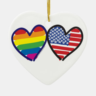 Gay Pride USA Christmas Ornament