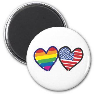Gay Pride USA Refrigerator Magnets