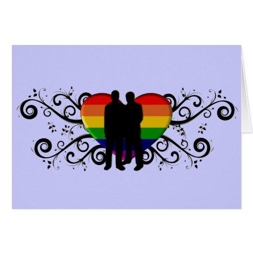 Gay Pride Valentine's Day Card for Men