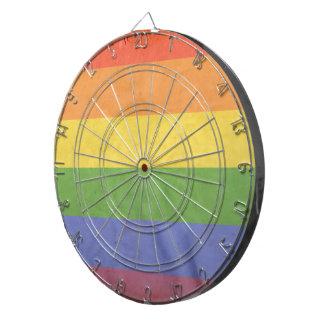 GAY PRIDE VINTAGE DESIGN DARTBOARD