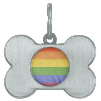 GAY PRIDE VINTAGE DESIGN PET TAG