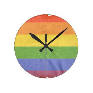 GAY PRIDE VINTAGE DESIGN ROUND CLOCK