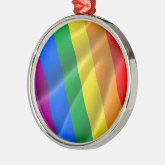 GAY PRIDE WAVY LINES DIAGONAL - 2014 PRIDE CHRISTMAS TREE ORNAMENT