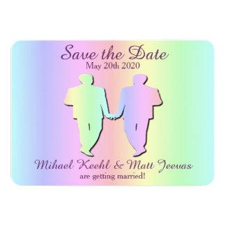Gay Pride Wedding Save the Date Card 11 Cm X 16 Cm Invitation Card