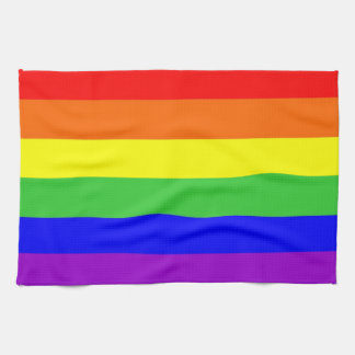 gay proud rainbow colors flag homosexual tea towel
