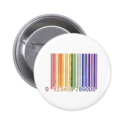 Gay Rainbow Barcode 2 6 Cm Round Badge