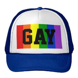 Gay Rainbow Flag Ball Cap - Blue