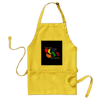 """Gay Rainbow Hearts """"I was lost, you found me"""" Standard Apron"""