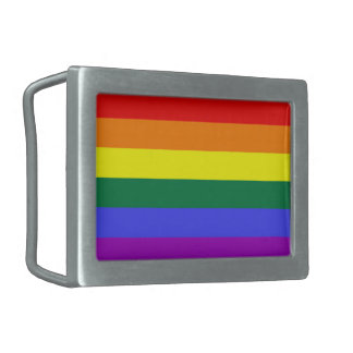 Gay Rainbow Pride Flag Rectangular Belt Buckles
