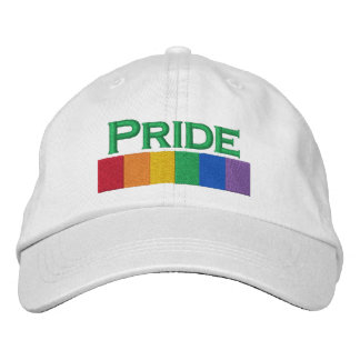 Gay Rainbow Pride Flag Strip Embroidered Baseball Caps