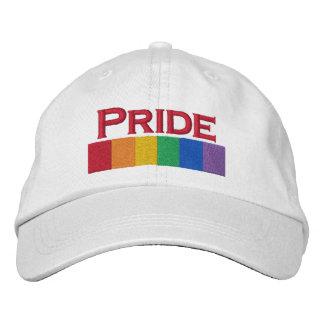 Gay Rainbow Pride Flag Strip Embroidered Baseball Caps