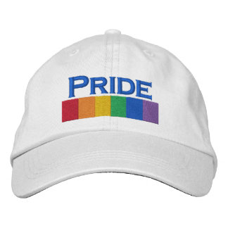 Gay Rainbow Pride Flag Strip Embroidered Hats