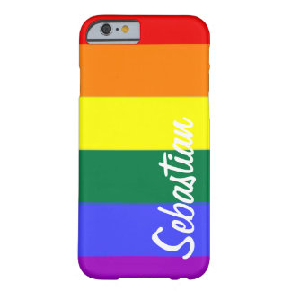 Gay Rainbow Pride Personalized Barely There iPhone 6 Case
