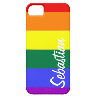 Gay Rainbow Pride Personalized iPhone 5 Cover