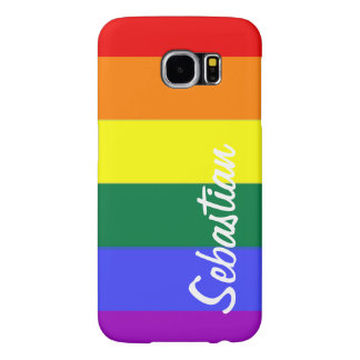 Gay Rainbow Pride Personalized Samsung Galaxy S6 Cases