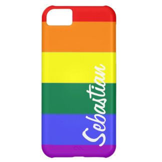 Gay Rainbow Pride Personalized iPhone 5C Case