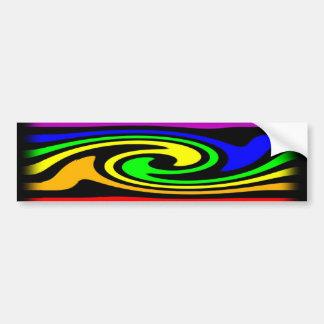Gay Rainbow Swirl Bumper Sticker