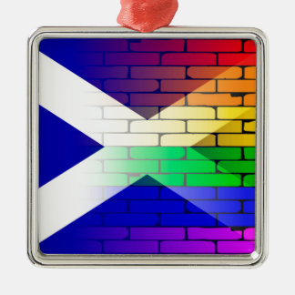 Gay Rainbow Wall Scotland Flag Christmas Ornament