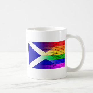 Gay Rainbow Wall Scotland Flag Coffee Mug