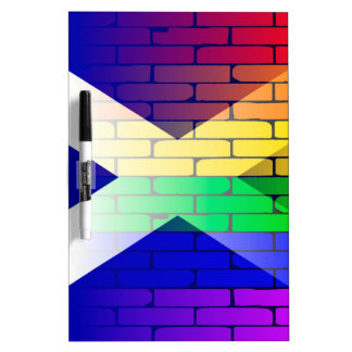Gay Rainbow Wall Scotland Flag Dry Erase Board