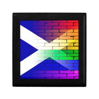 Gay Rainbow Wall Scotland Flag Gift Box
