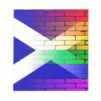 Gay Rainbow Wall Scotland Flag Notepad