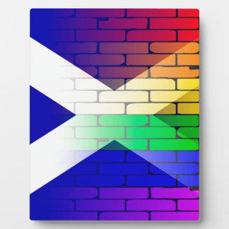 Gay Rainbow Wall Scotland Flag Photo Plaque