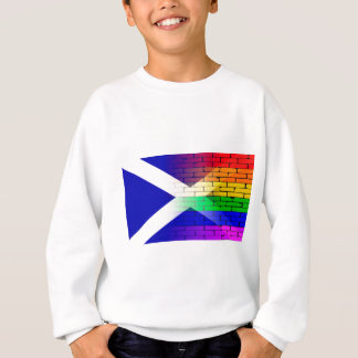 Gay Rainbow Wall Scotland Flag Sweatshirt