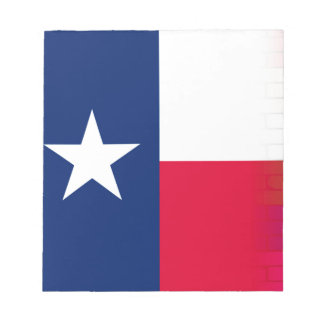 Gay Rainbow Wall Texan Flag Notepad
