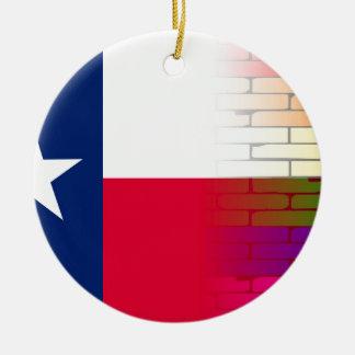 Gay Rainbow Wall Texan Flag Round Ceramic Decoration