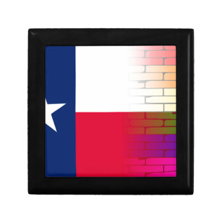 Gay Rainbow Wall Texan Flag Small Square Gift Box