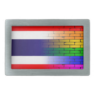 Gay Rainbow Wall Thai Flag Belt Buckle