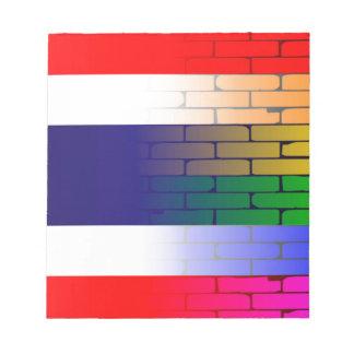 Gay Rainbow Wall Thai Flag Notepad