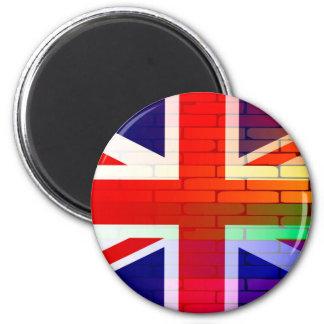 Gay Rainbow Wall Union Jack 6 Cm Round Magnet