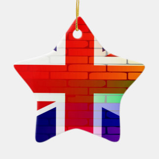 Gay Rainbow Wall Union Jack Christmas Ornament