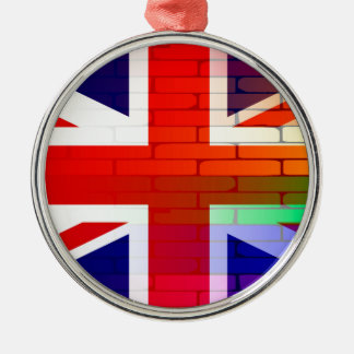 Gay Rainbow Wall Union Jack Christmas Ornament
