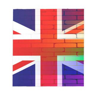 Gay Rainbow Wall Union Jack Notepad